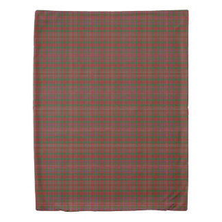 Clan MacAlister Scottish Accents Red Green Tartan Duvet Cover