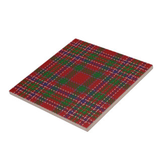 Clan MacAlister Scottish Expressions Red Tartan Tile