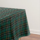 Clan MacAlpine Dark Green Scottish Tartan Tablecloth
