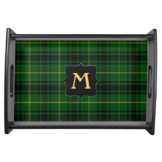 Clan MacArthur Plaid Monogram Serving Tray