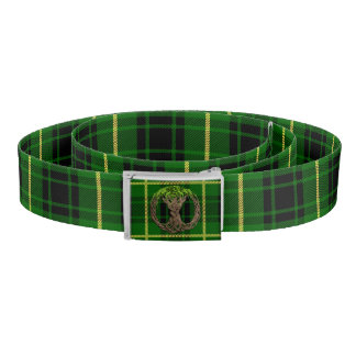 Clan MacArthur Tartan And Celtic Tree Of Life Belt