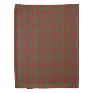 Clan MacAulay Scottish Accents Red Green Tartan Duvet Cover