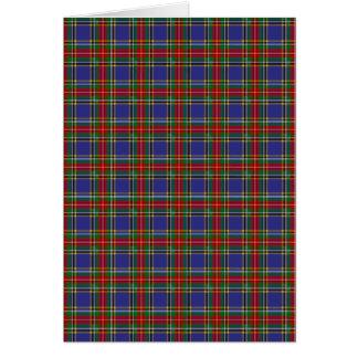 Clan MacBeth Tartan Card