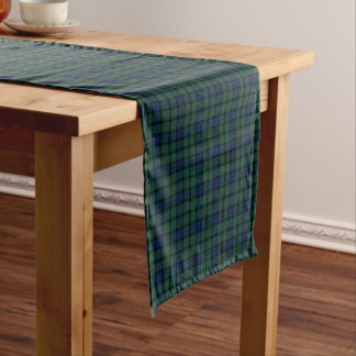 Clan MacCallum Dark Blue and Green Scottish Tartan Short Table Runner