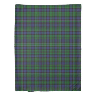Clan MacCallum Scottish Accents Blue Green Tartan Duvet Cover