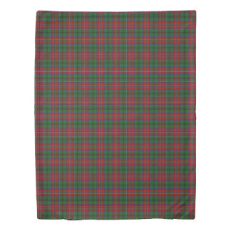 Clan MacCulloch Scottish Accents Red Green Tartan Duvet Cover