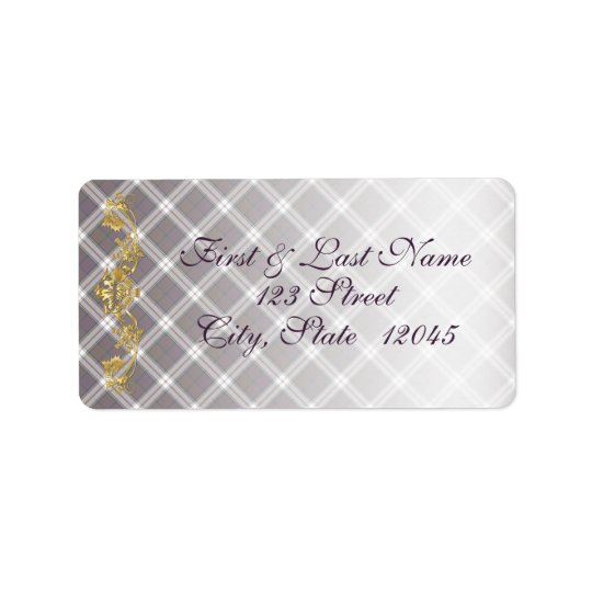 Clan MacDonald Dress Tartan & Thistle Mail Label 1