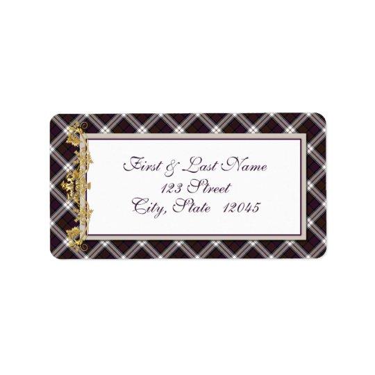 Clan MacDonald Dress Tartan & Thistle Mail Label 2
