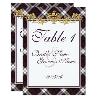 Clan MacDonald Dress Tartan & Thistles Table Card