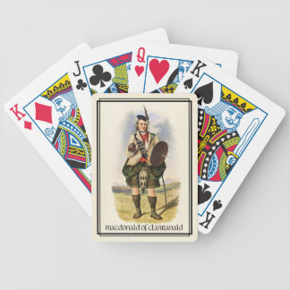 Clan MacDonald of Clanranald Classic Scotland Bicycle Playing Cards