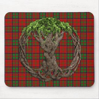 Clan MacDonald of Glencoe Tartan And Celtic Tree Mousepad