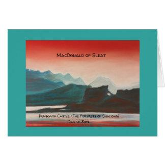 Clan MacDonald of Sleat, Isle of Skye, notelet Card