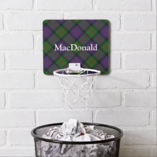 Clan MacDonald Tartan Customize Name Mini Basketball Backboard