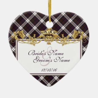 Clan MacDonald Tartan & Thistles Wedding Favor Ceramic Ornament
