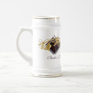 Clan MacDonald Tartan & Thistles Wedding Stein 1
