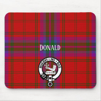 Clan MacDougall Tartan and Crest Mouse Pad