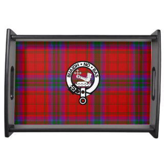 Clan MacDougall Tartan and Crest Serving Tray