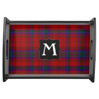 Clan MacDougall Tartan Plaid Monogram Serving Tray