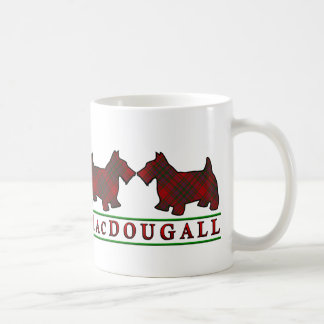 Clan MacDougall Tartan Scottish Scottie Dogs Coffee Mug