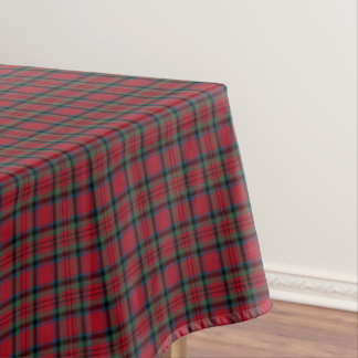 Clan MacDuff Red, Green, and Blue Scottish Tartan Tablecloth