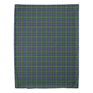 Clan MacEwen Scottish Accents Blue Green Tartan Duvet Cover
