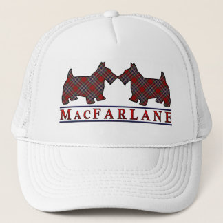 Clan MacFarlane Tartan Scottie Dogs Trucker Hat