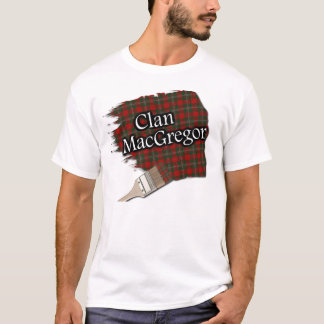 Clan MacGregor Scottish Tartan Paint Shirt