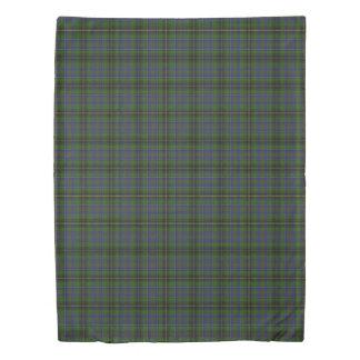 Clan MacInnes Scottish Accents Blue Green Tartan Duvet Cover