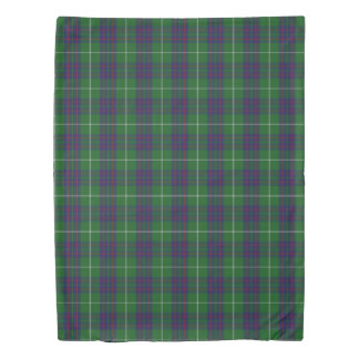 Clan MacIntyre Scottish Accents Blue Green Tartan Duvet Cover