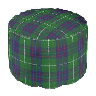 Clan MacIntyre Scottish Style Blue Green Tartan Pouf