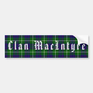 Clan MacIntyre Tartan Bumper Sticker
