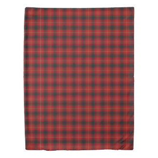 Clan MacIver Scottish Accents Red Black Tartan Duvet Cover