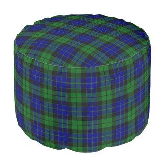Clan MacKay Scottish Style Blue Green Tartan Pouf