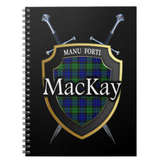 Clan MacKay Tartan Shield & Swords Notebook