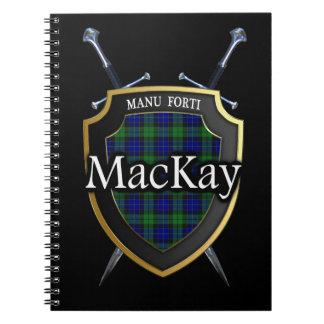 Clan MacKay Tartan Shield & Swords Notebooks