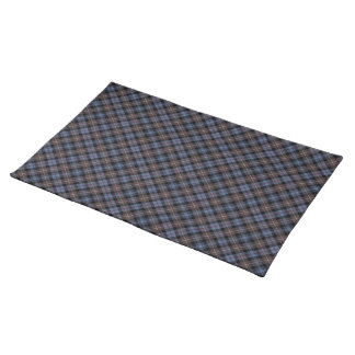 Clan Mackenzie Brown and Blue Reproduction Tartan Placemat