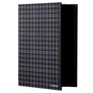 Clan Mackenzie Brown and Blue Tartan Monogram Powis iPad Air 2 Case