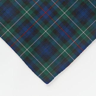 Clan Mackenzie Clan Dark Blue and Green Tartan Fleece Blanket