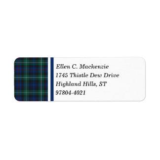 Clan Mackenzie Dark Blue and Green Scottish Tartan
