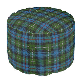 Clan MacKenzie Scottish Style Blue Green Tartan Pouf