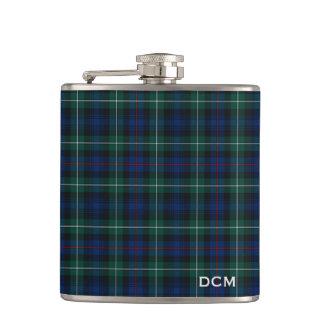 Clan Mackenzie Tartan Monogram Flasks