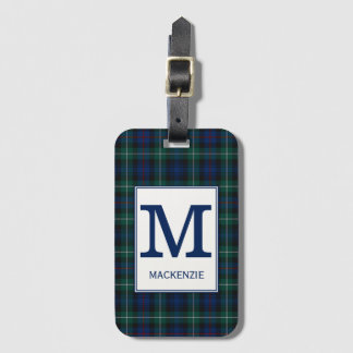 Clan Mackenzie Tartan Monogrammed Luggage Tag