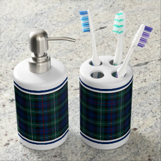 Clan Mackenzie Tartan Soap Dispenser And Toothbrush Holder