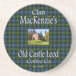 Clan MacKenzie's Old Castle Leod Coffee Co. Coaster