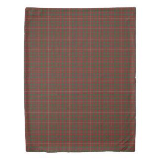 Clan MacKinnon Scottish Accents Red Green Tartan Duvet Cover
