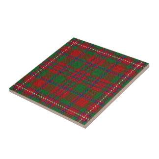 Clan MacKinnon Scottish Expressions Tartan Tile