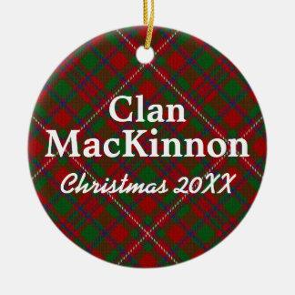 Clan MacKinnon Scottish Tartan Ceramic Ornament