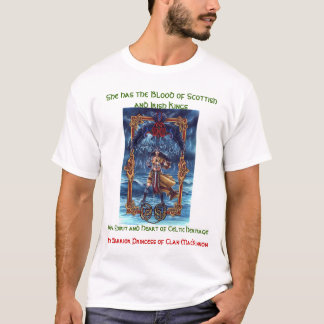 Clan MacKinnon Warrior Princess-Heritage T-Shirt