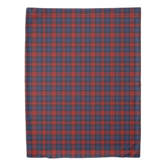 Clan MacLachlan Scottish Accents Blue Red Tartan Duvet Cover