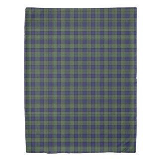 Clan MacLaren Scottish Accents Blue Green Tartan Duvet Cover